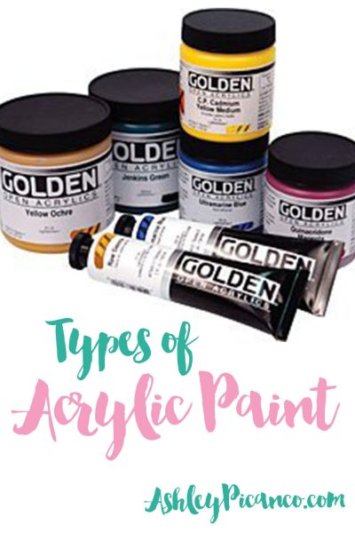 Types Of Acrylic Paint Of Types Of Acrylic Paint Acrylic Paint For Beginners