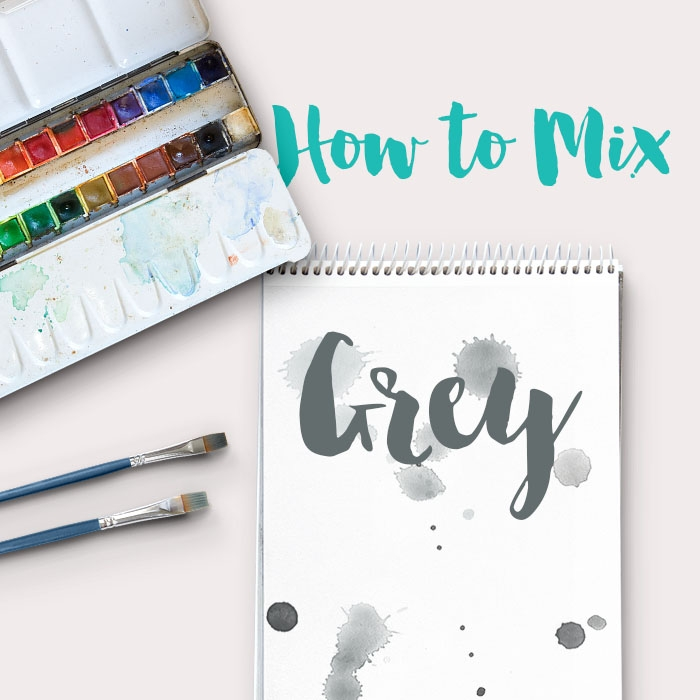how to mix grey with acrylic paint