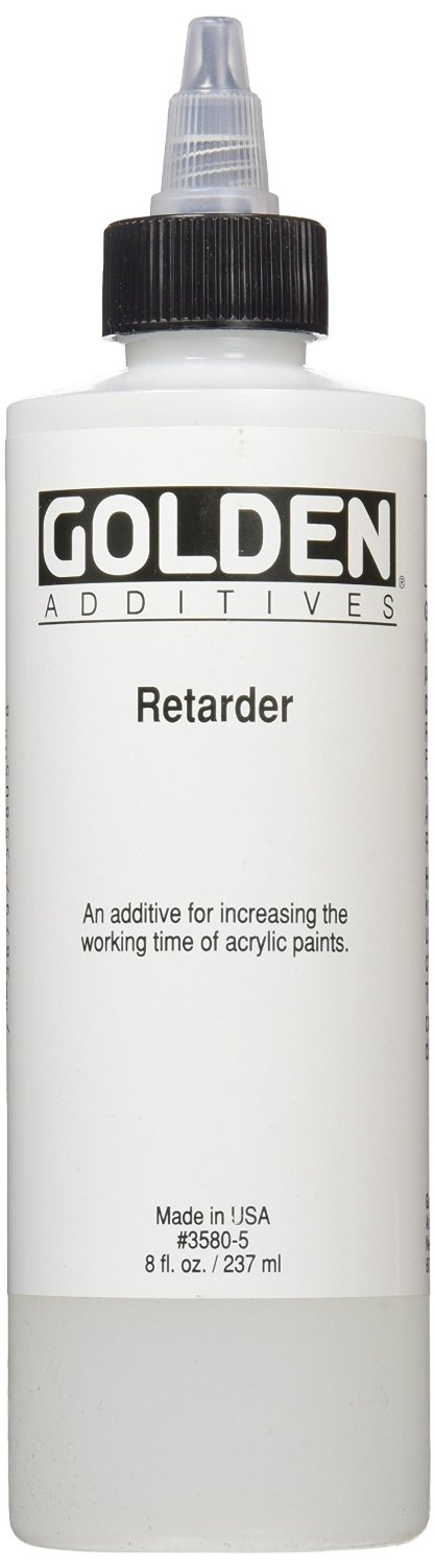 Golden paint retarder for acrylics