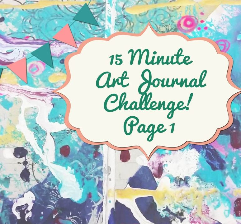 15 Minute Art Journal Challenge Page 1!