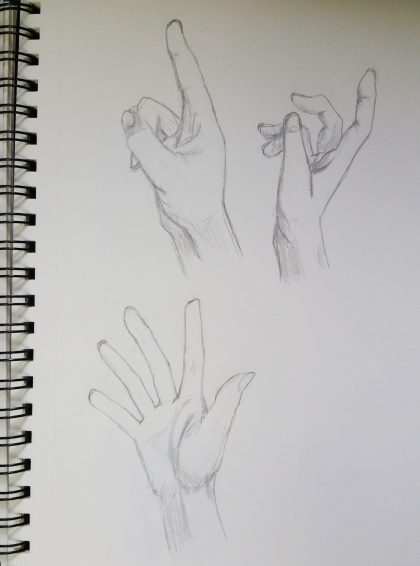 Hands! I have a serious love/hate relationship with them. I hate drawing them because they're so hard, but they look so elegant when they're done correctly and can make a huge impact on the feeling of a drawing or character.