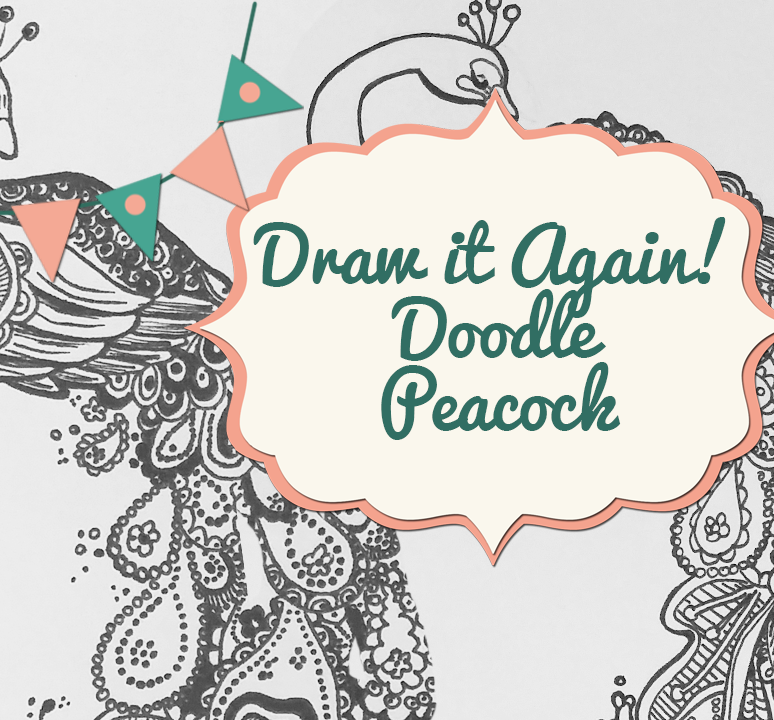 Draw It Again: Doodle Peacock