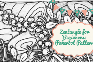 Zentangle for Beginners: Pokeroot Pattern!
