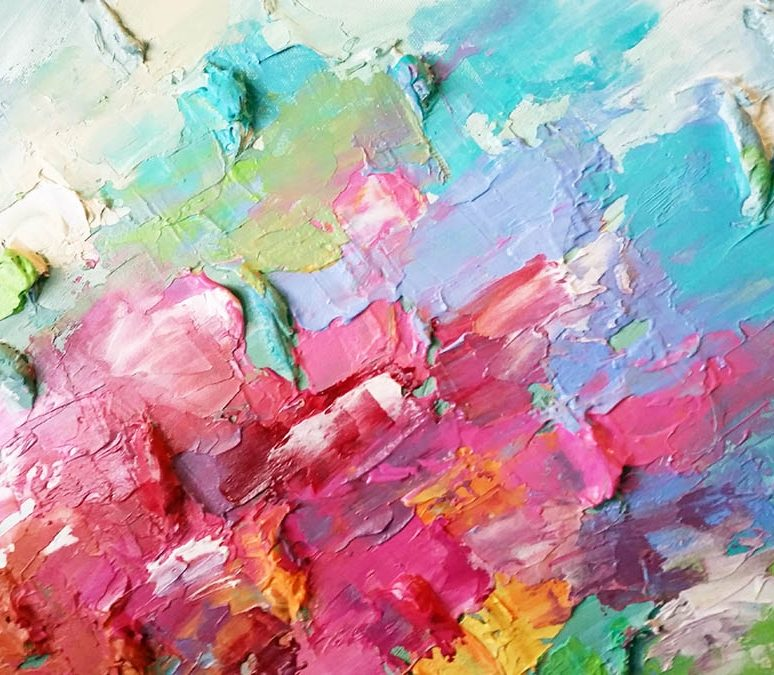 Abstract Acrylic Painting Plein Air Speedpaint part 2
