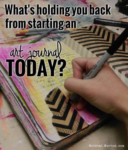 This post has great ideas to show how easy it really can be to keep an art journal