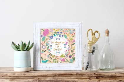free wall art floral