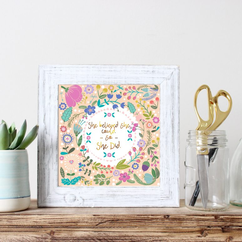 Free Spring Floral Wall Art!