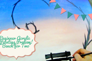 Bench For Two Acrylic Beginner Painting Project PREVIEW