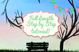 EASY Beginner Acrylic Painting FULL LENGTH Tutorial: Bench For Two!