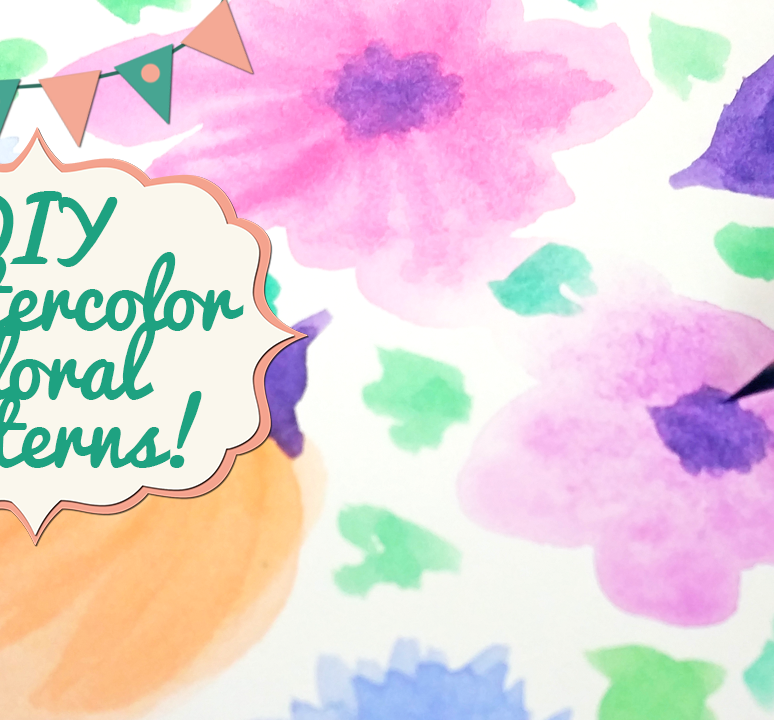 Easy DIY Watercolor Flower Patterns (5 Different Styles!)