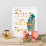 Wild and Precious Life Printable Art