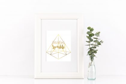 geometric free wall art