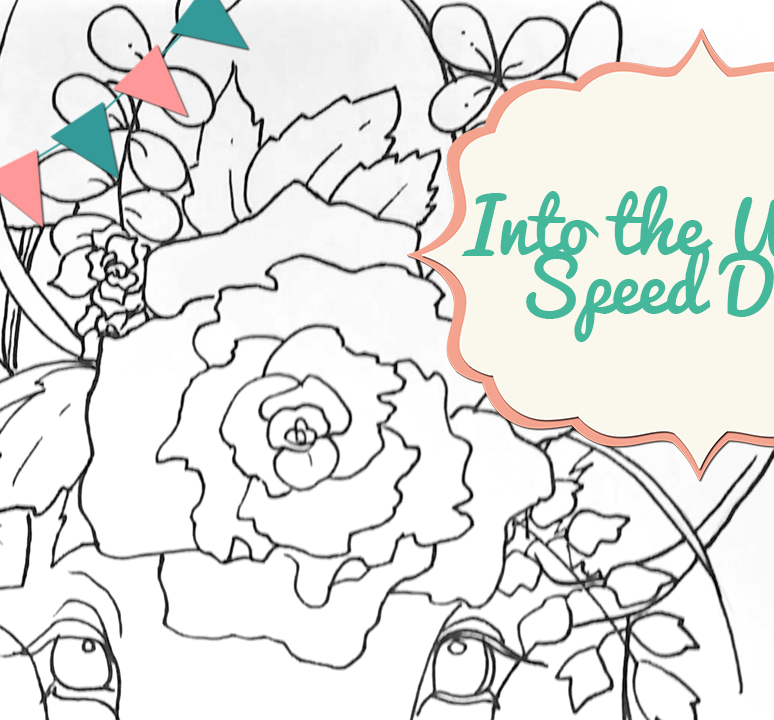 Into the Woods Adult Coloring Page Drawing Process