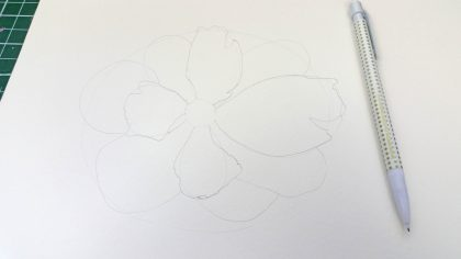 how to draw a flower tutorial