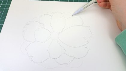 how to draw a peony in watercolor