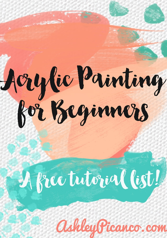 an acrylic painting for beginners tutorial round up