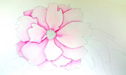 Here's my peony after this second layer is finished.