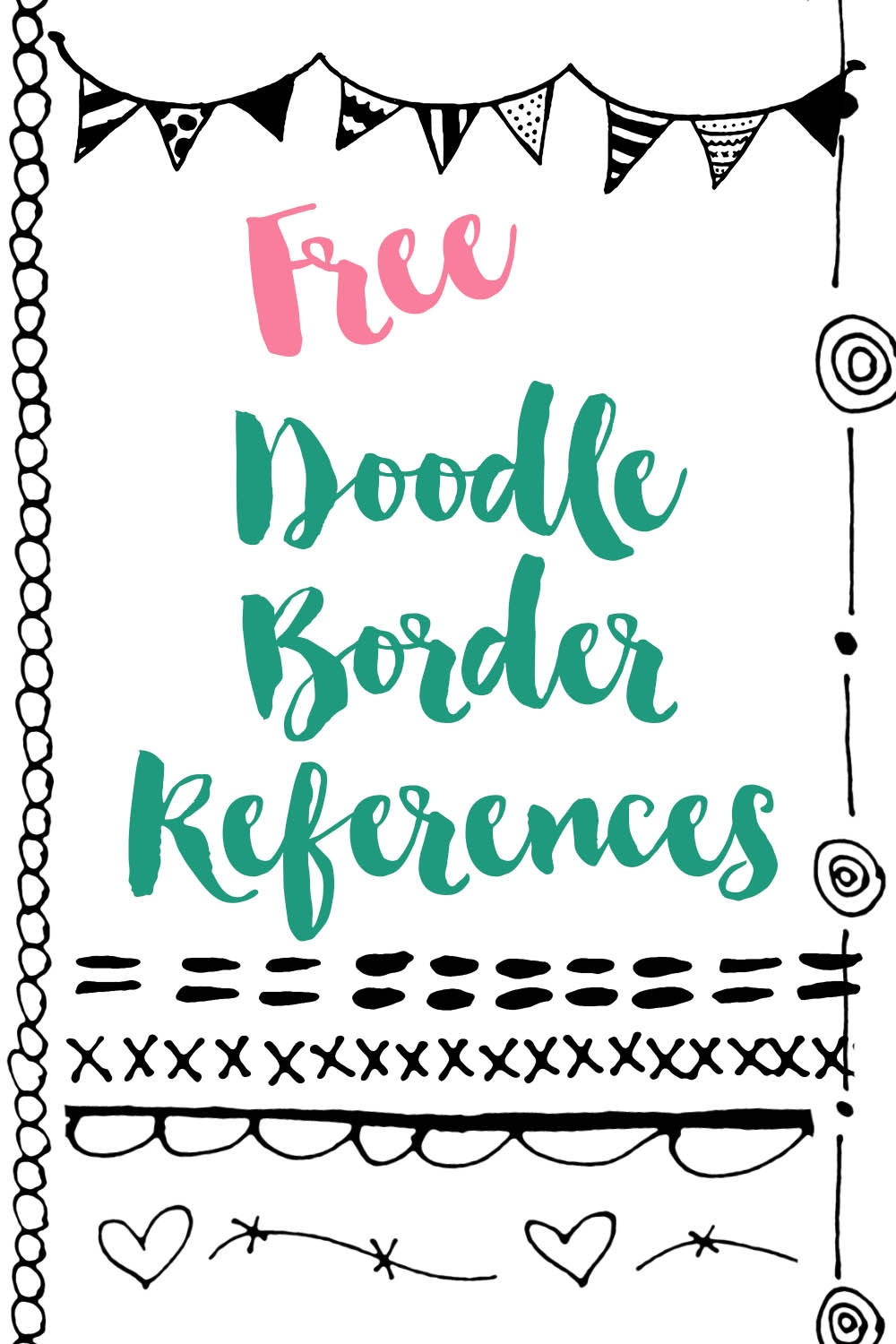 free doodle border references for your art journal or sketchbook