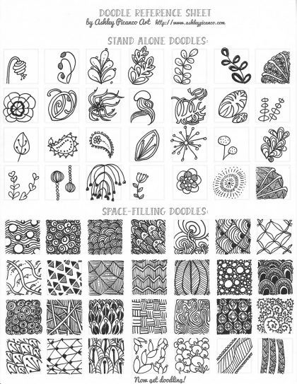 free zentangle reference sheet