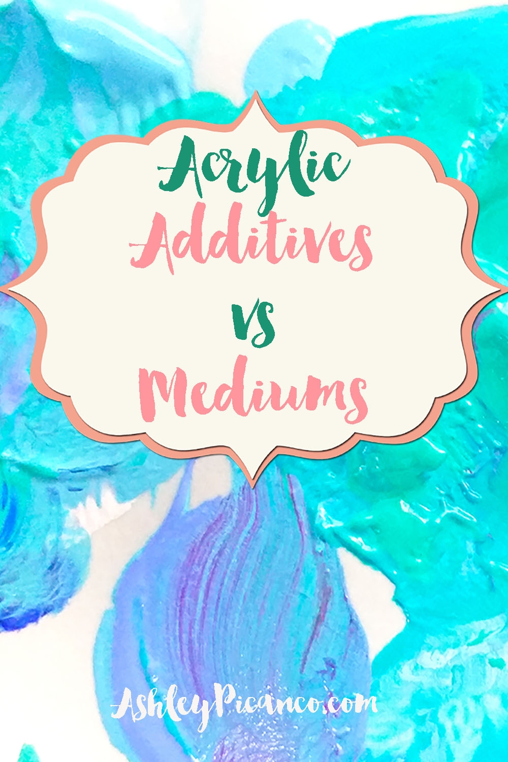 What's the difference between acrylic additives and mediums?