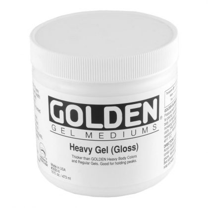 Golden's Heavy Gel, a medium for increasing the thickness of your paint.