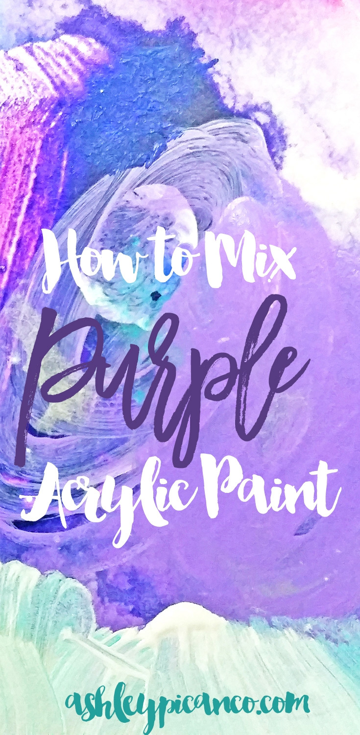 how to mix paint to make purple