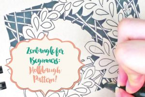 Zentangle for Beginners: Hollibaugh Pattern!