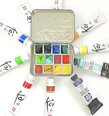 DIY travel watercolor tin altoids sucrets
