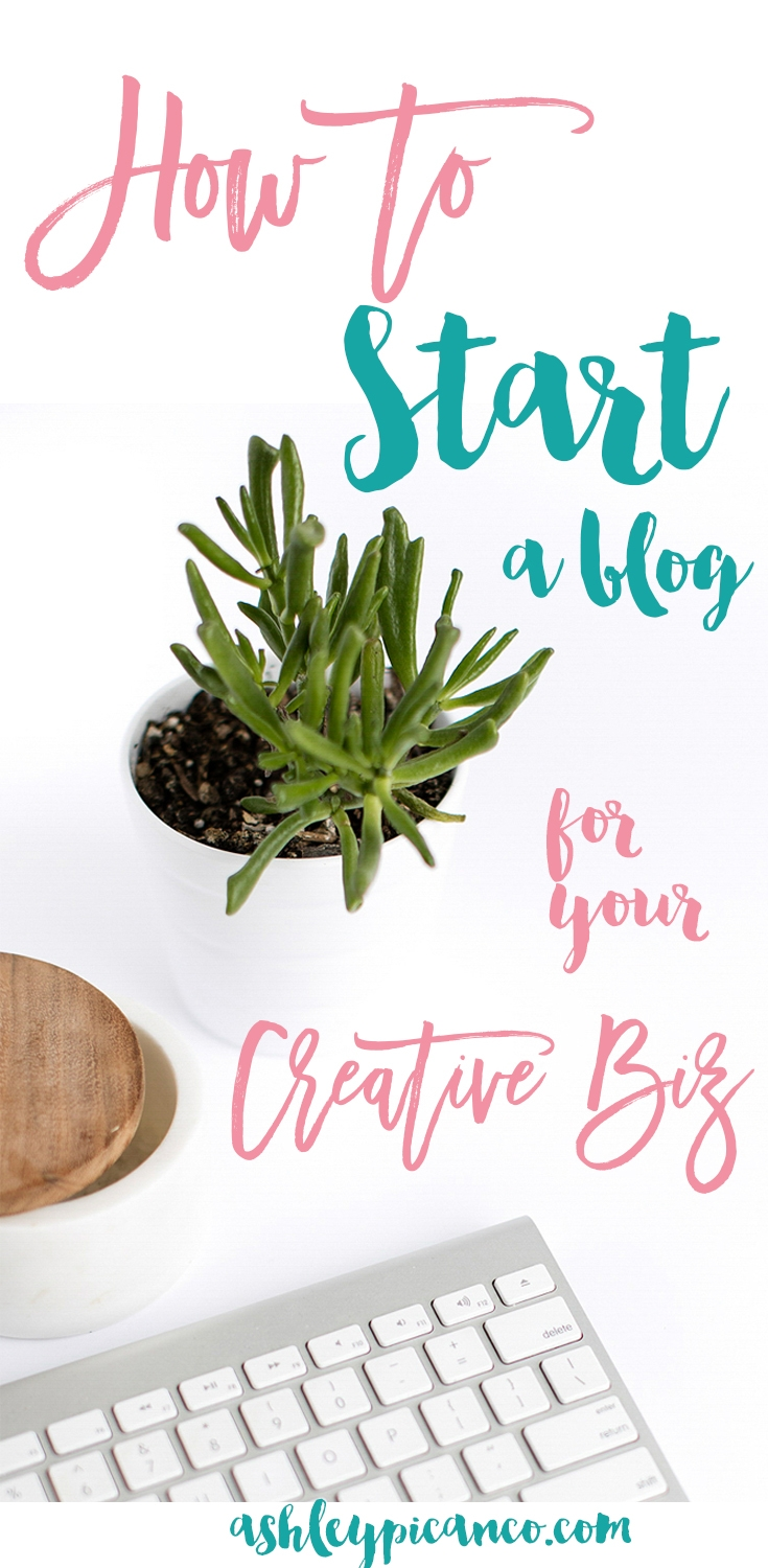 How to Start a Blog for your Creative Biz