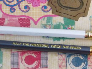 "The back of the 602 pencil states the slogan, ""Half the pressure,twice the speed"", which indicates that the 602 has a darker graphite than the pearl."