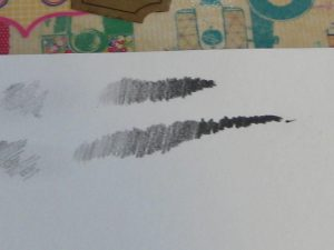 I then made a gradient with both pencils.  The Pearl is on the top.  I was able to create a nice range with both, but the 602 did allow me to reach darker shades of grey than the Pearl. I was impressed at how black both pencils stayed as I used harder pressure.  Most normal graphite pencils start to get quite shiny and silver-looking, but these stayed much more matte and black-like.