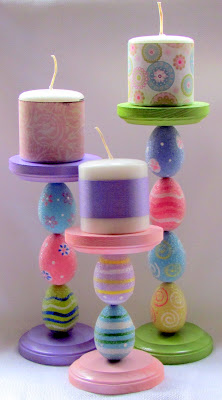 This easter egg candle holder is perfect for springtime! Any candle will look so cute sitting on top of these!