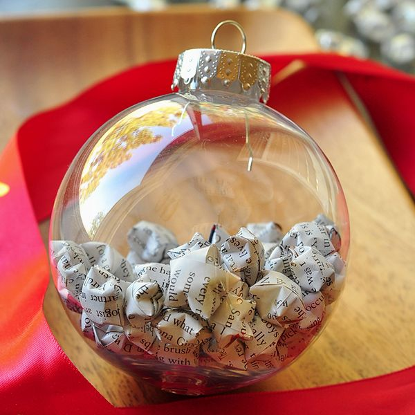 Pretty paper stars inside a clear ball!
