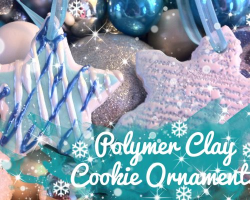 DIY Polymer Clay Cookie Christmas Tree Ornaments