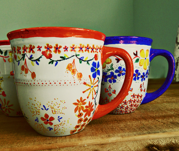 We've all seen the Sharpie mug DIY by now, but these mugs are taking it to the next level!