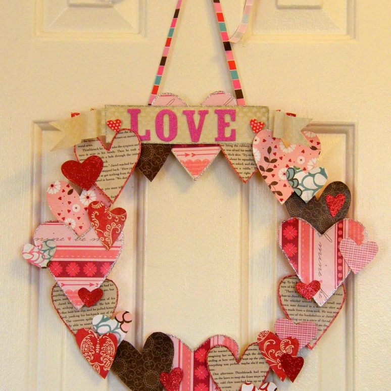 4 Beautiful DIY Valentine's Day Wreaths Using Supplies You Already Have