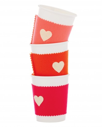 Give your sweetheart a cozy sleeve to keep his or her coffee nice and hot!